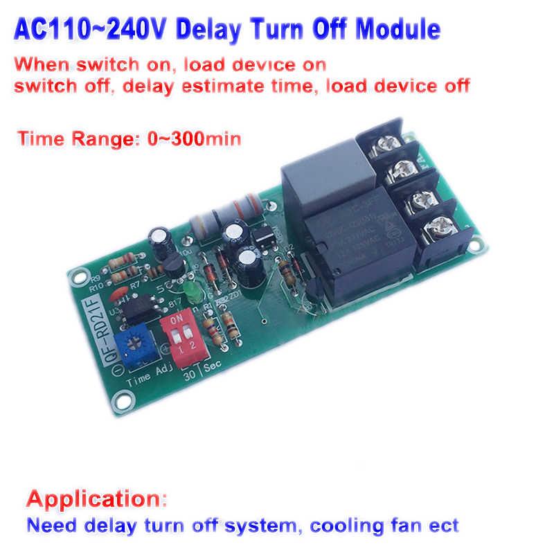 Yüksek Kaliteli Gecikme KAPALı Modülü AC 110 V 220 V 230 V 240 V Gecikme KAPALı Modülü Röle zamanlayıcı Kontrol Anahtarı Fan