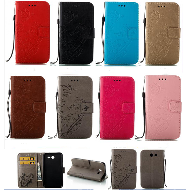 Single sided embossing Butterfly Leather Phone Case For IPhone 5 5S 6S 7 8 x Puls Doogee Back Cover Flip Shell Wallet Stand