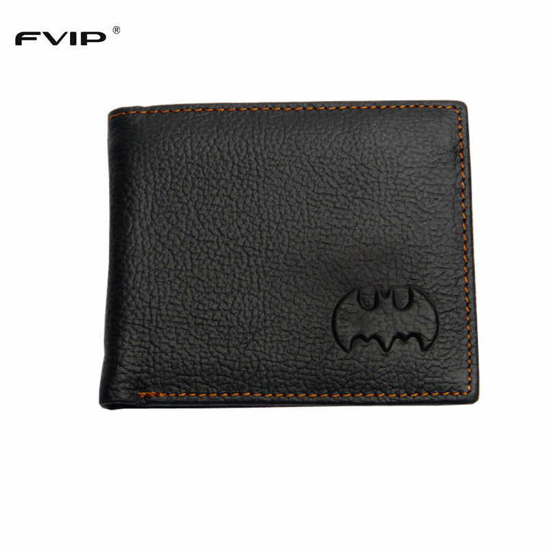 FVIP Free Shipping DC Marvel Wallet Batman Superman Wallets Genuine Leather with Zipper Coin Pocket Dollar Price
