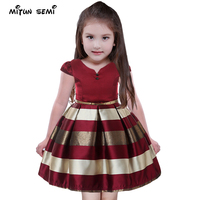 V Neck Party Girls Dresses Brand Princess Dress For Girl Baby Party Dress Birthday Clothing