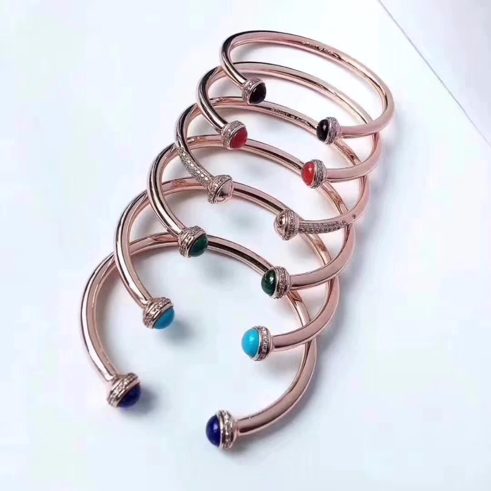 S925 sterling silver women 2 ball ratate bangle bracelet rose gold cz spin ball bangles famous brand jewelry 5 colors