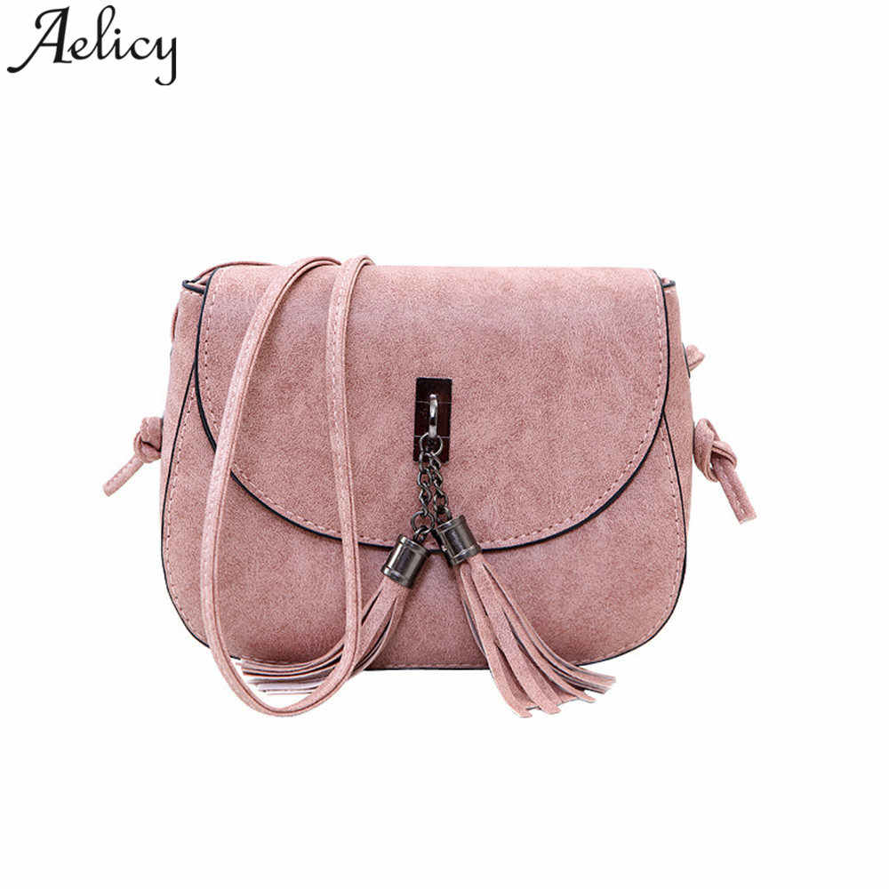 Aelicy luxury Vintage Fashion Small Handbag Mini Messenger Bag Women s  Handbag Tassel Flap Bag Leather Women 15cb3b8dbefda