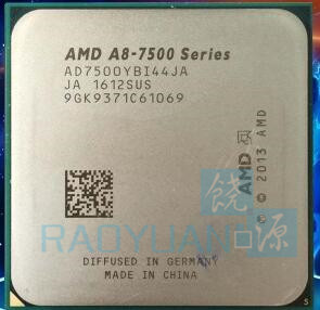 AMD A8-Series A8-7500 A8 7500 AD7500YBI44JA Quad Core 3.0GHZ Socket FM2+ desktops CPU shuangye a8 36v