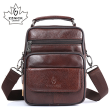 ZZNICK 2017 New Arrival Genuine Leather Bags For Men Shoulde