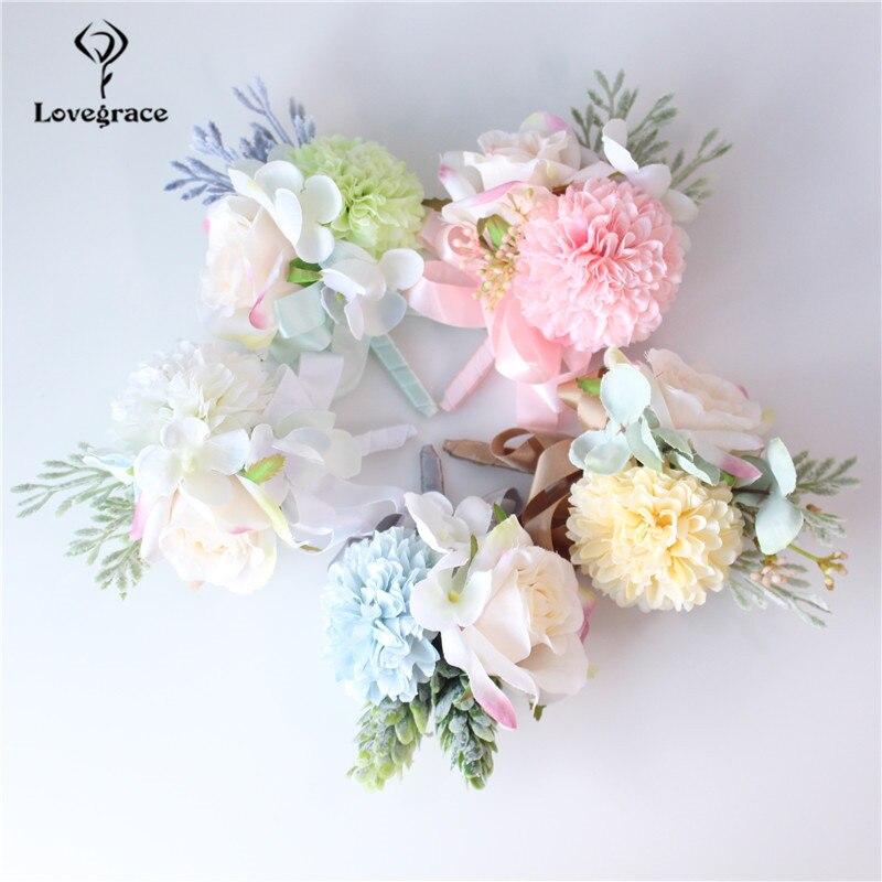Korean Wedding Flowers: Korean Fresh Romantic Brides Brooch Wrist Flowers Wedding
