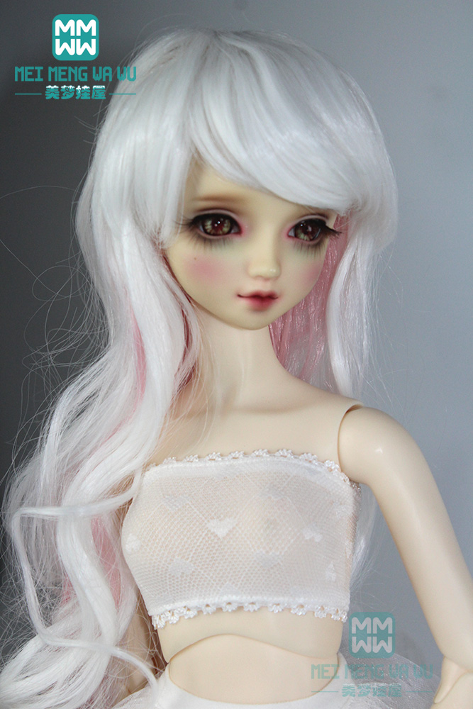 Doll <font><b>accessoires</b></font> doll wigs natural curls Fashion lace underwear for 1/3 <font><b>1/4</b></font> 1/6 <font><b>BJD</b></font> SD MSD YOSD doll image