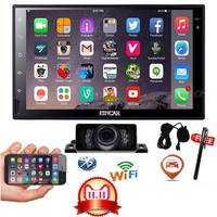 2 din android wheel vehicle Car Multimedia Player Radio Player Stereo Cassette Auto radio Gps Navigation bluetooth touch screen