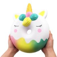 Unicorn Doughnut Big Jumbo Squishy Huge Squishes Slow Rising Toys Soft PU Giant Donut Squish Relief Antistress Kids Gift Oyuncak