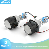 RONAN Car Styling 2.5''Bi xenon Projector Lens car accessories fit H1 headlight h4 led Retrofit DIY H7 Headlamp Lens for focus