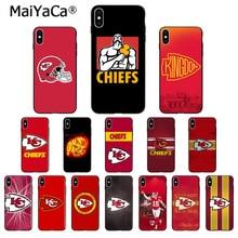 MaiYaCa Kansas City Chief ТПУ Мягкие аксессуары для телефонов чехол для телефона для iPhone X XS MAX 6 6s 7 7plus 8 8Plus 5 5S SE XR