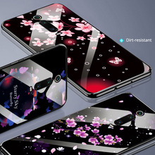 Tempered Glass Case For Xiaomi Redmi K20 Pro Cover Soft Edge Phone Shell