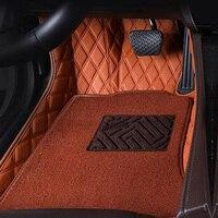 Левосторонний/правосторонний коврики для Volkswagen Beetle СС, EOS Golf Jetta Passat Tiguan TOUAREG, sharan 5D ковровое напольное покрытие для стайлинга автомобилей