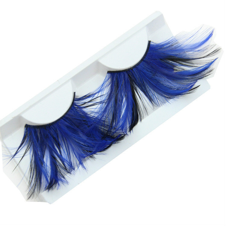 colorido do partido penas exagero artistico cilios falsos falso eye lashes 500 pares lote