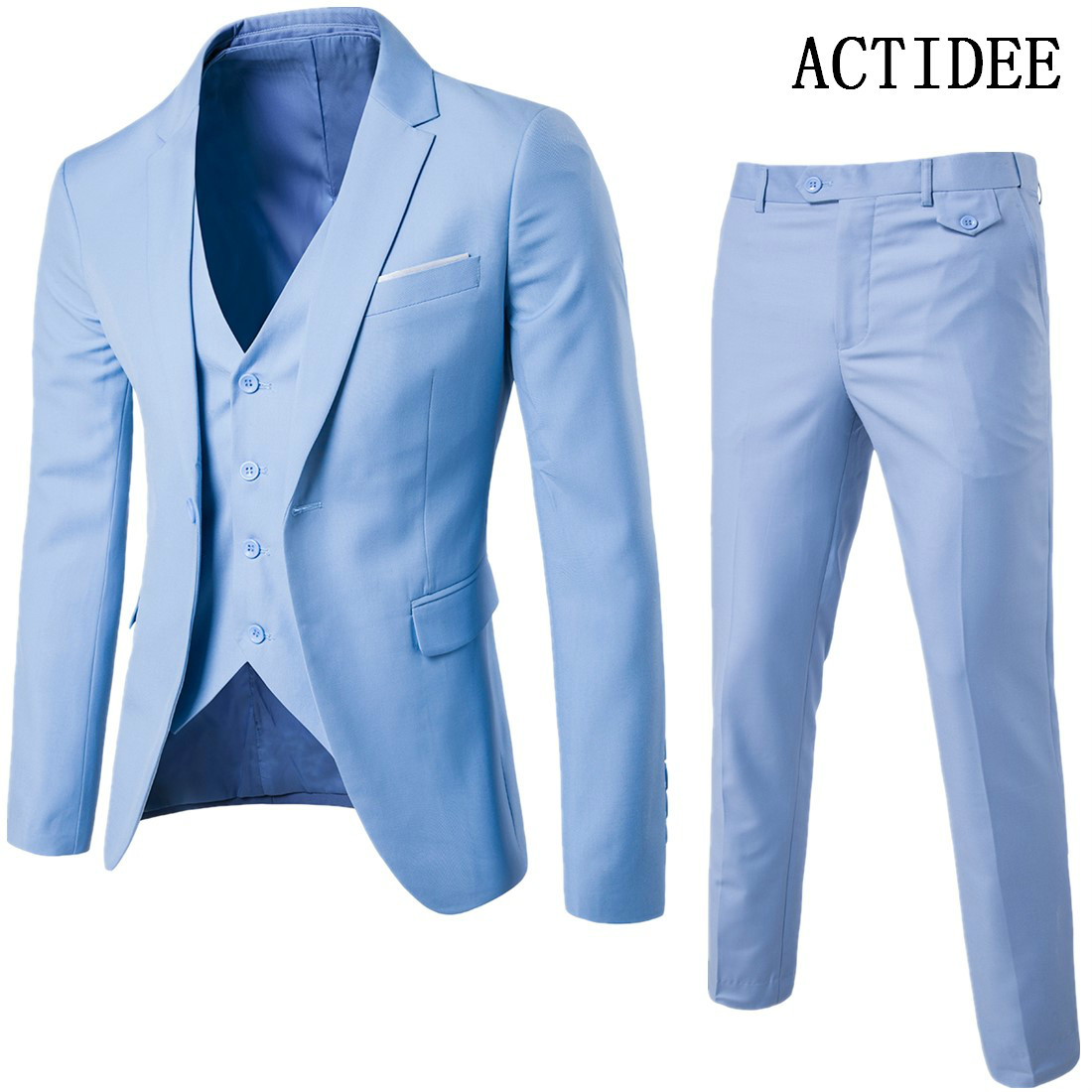 1set=Jacket+Pants+Vests Mens Suits 2018 New Classic Wedding Business ...