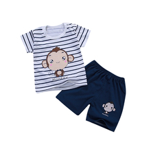 hot deal buy baby girl clothes children sets summer 2018 new kids clothing short sleeve cotton t - shirt+ shorts cartoon pig boys suits