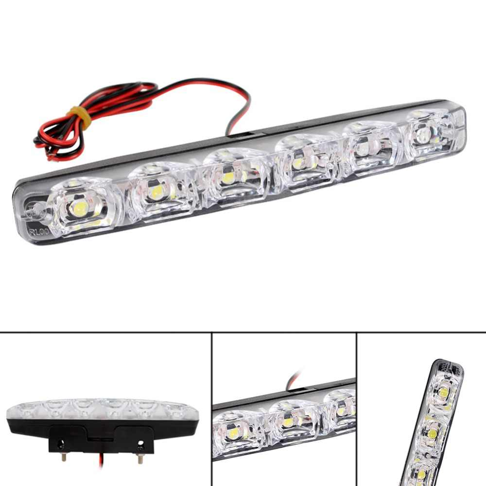 1Pcs DRL LED Car Daytime Running Lights 6 LED DC 12V Auto Fog Light Driving Lamps Car-styling Super Bright  #284176