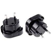 De viaje Universal Reino Unido a la UE enchufe Euro AC adaptador/cargador de energía convertidor hembra negra de conector adaptador con enchufe