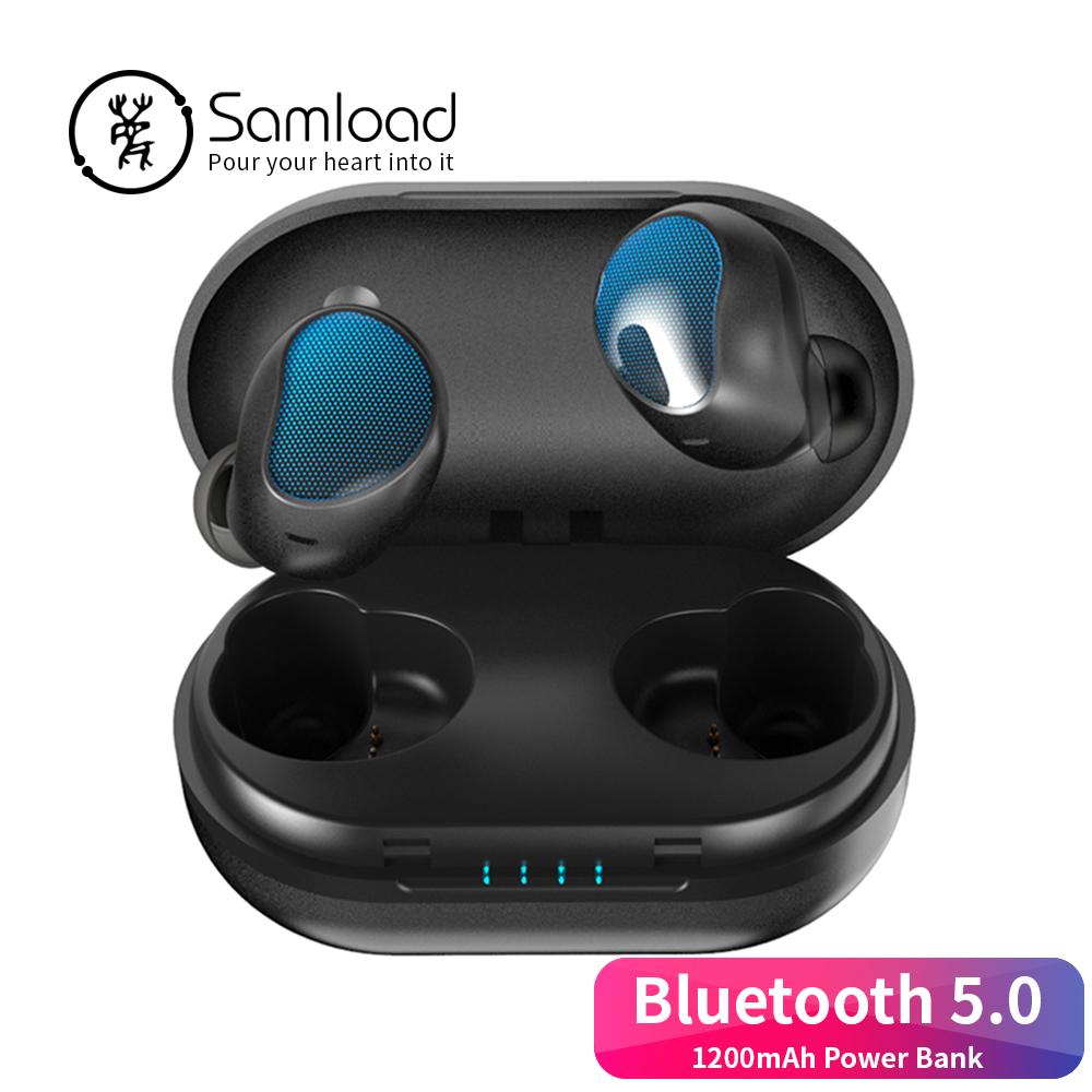 Samload Bluetooth 5.0 Business Headphones Power Bank Wireless Headset Stereo in-ear earbud For Apple iPhone 7 8 X Xs Xr Samsung fashion 3 5mm stereo in ear earphone earbud headphones headset for htc ipad iphone samsung binmer factory price drop shipping