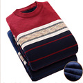 Sweater Men 2017 Brand Thickening Pullover Sweater Male O-Neck Splicing Slim Fit Knitting Mens Sweaters Man Pullover Men XXXL