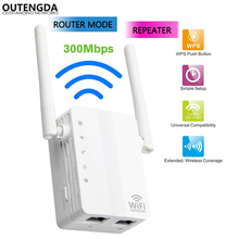 300Mbps Wireless WiFi Repeater 11N Network AP Router 2.4Ghz Dual Antennas Wi Fi Signal Amplifier Range Extender WPS Button US EU vrp300 plus wifi repeater 802 11n b g network 300mbps wifi routers range expander signal booster extender wifi ap wps encryptio