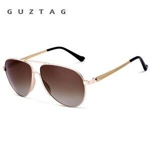 Image 4 - GUZTAG gafas de sol clásicas para hombre y mujer, lentes de sol de aluminio de gran tamaño, polarizadas, con protección UV400, G8005