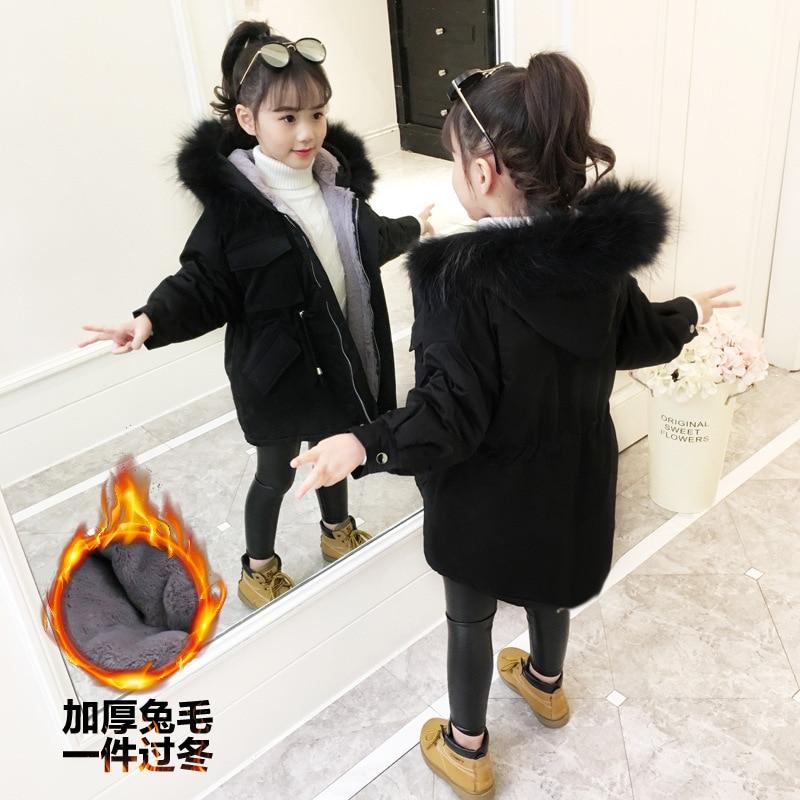 Nouvelles filles vestes hiver fille manteaux vêtements d'extérieur vêtements en coton pour enfants 5-10 ans