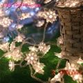 Guirnalda de Navidad llevó la linterna LED LLEVÓ la tira Warmwhite festas bola LED cadena de iluminación de vacaciones de Navidad decoración de la boda