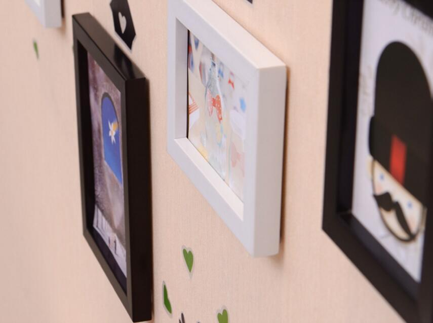 Blanco negro 5 unids/set Collage marco de fotos, pared de la foto de ...