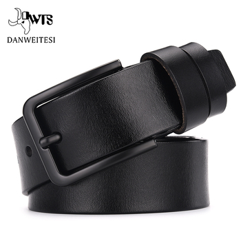 Genuine cow leather luxury strap male belts