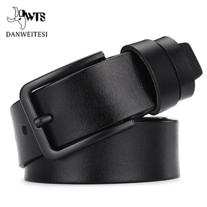 DWTS cow genuine leather luxury strap male belts for men new fashion classice vintage pin buckle leather belt male belt men(China)