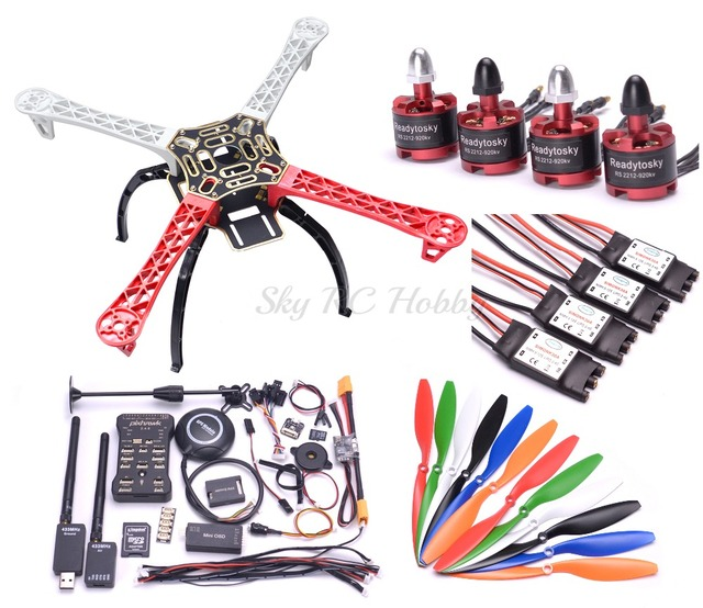 US $153 99 |F450 450mm / S500 PCB 500mm / X500 Quadcopter Frame Kit Pixhawk  PIX 2 4 8 Flight Controller M8N GPS 433Mhz Telemetry 2212 Motor-in Parts &