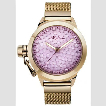 Melissa Brand Classic Starry Night Stars Full Crystals Watches Women Big Full Steel Bracelet Watch Quartz Analog Montre Relojes