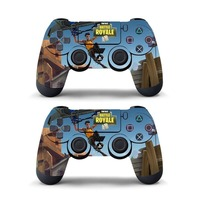 Data Frog 2Pcs For Fortress Night Sticker For Sony PlayStation4 Game Controller For PS4 Skin Stickers 11 Styles