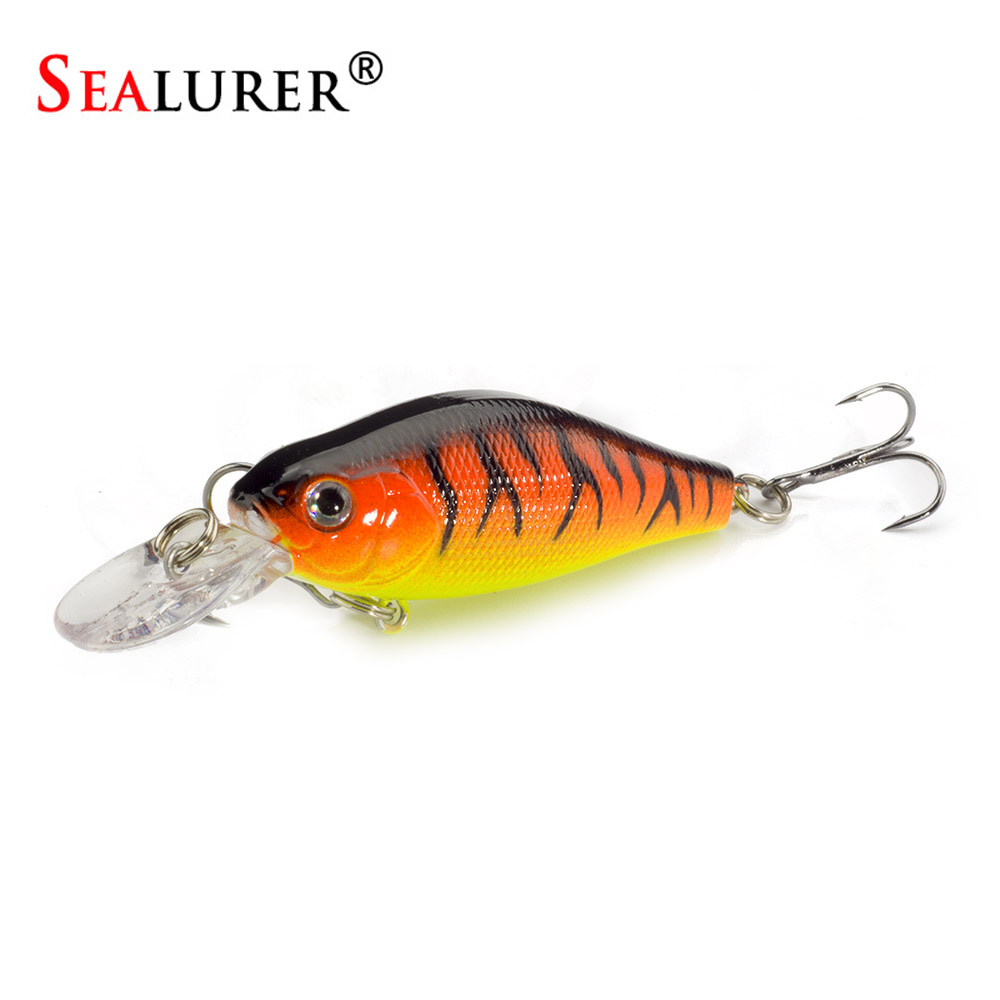SEALURER 1pcs Wobbler Crank fishing Lure Peche Artificial Bait 6.5cm8g Crankbait  Float Jerkbait  Boat fishing