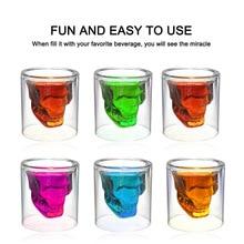 3 Sizes Skull Head Wine Glass Mug Crystal Beer Whiskey Shot Double Cup Vodka Drinking Bar Club Bottle
