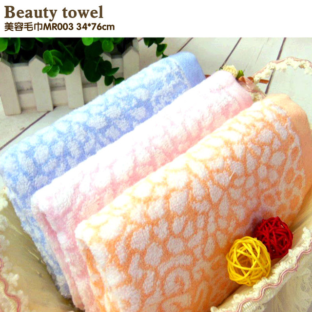 Bamboo fiber towel Bamboo cotton facecloth Soft beauty towel Comfortable twistless cotton towel Jacquard towel fashion Free ship
