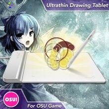 El XP Pluma G430 4×3 pulgadas Ultrafina de la Tableta Gráfica Dibujo Tablet/Pen Tablet para OSU con batería-libre stylus diseñados Blanco