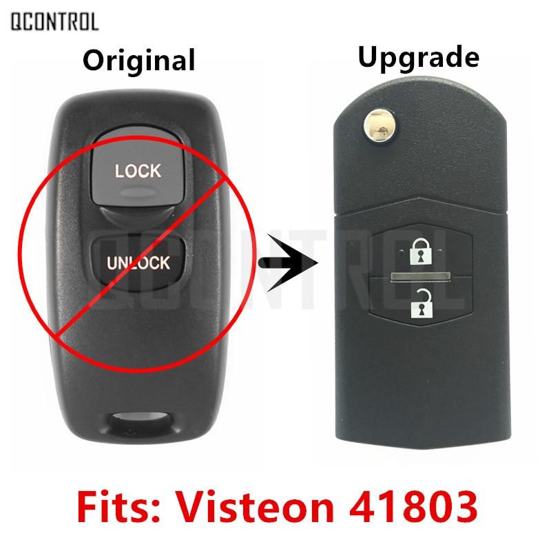 QCONTROL de Voiture Améliorée À Distance Key Fit pour MAZDA 41803 pour M2 Demio M3 Axela M5 Premacy M6 Atenza 433 MHz Sans Clé entrée
