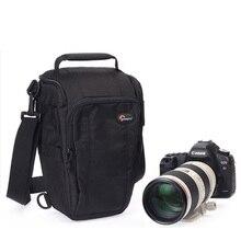 Lowepro toploader 줌 55 aw 디지털 slr 카메라 삼각형 숄더 백 레인 커버 캐논 니콘에 대한 휴대용 허리 케이스 홀스터