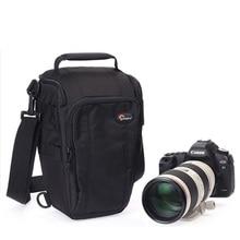 Lowepro toploader zoom 55 aw digital slr câmera triângulo bolsa de ombro capa chuva caso cintura portátil coldre para canon nikon