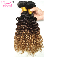 Ombre Honey Blonde Loose Deep Wave Brazilian Hair Can Buy 3 Bundles Virgin Hair Human Hair