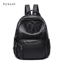 Dlkluo натуральная кожа Для женщин рюкзак Лидер продаж высокое качество мягкий Водонепроницаемый овчины сумка Обувь для девочек школьная сумка дорожная сумка