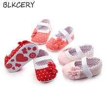 New Fashion Baby Girl Shoes Cute Flowers Princess Footwear Infant Anti-Slip Sole Crib Toddler Hook and Loop First Walkers