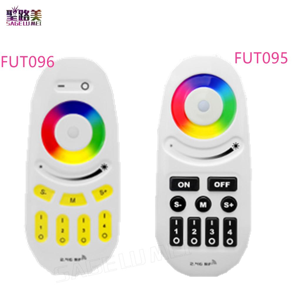 Mi luz 2.4g 4-zone fut095 fut096 rgb rgbw led controlador botão/toque rf controle remoto sem fio para milight led lâmpada de tira luz
