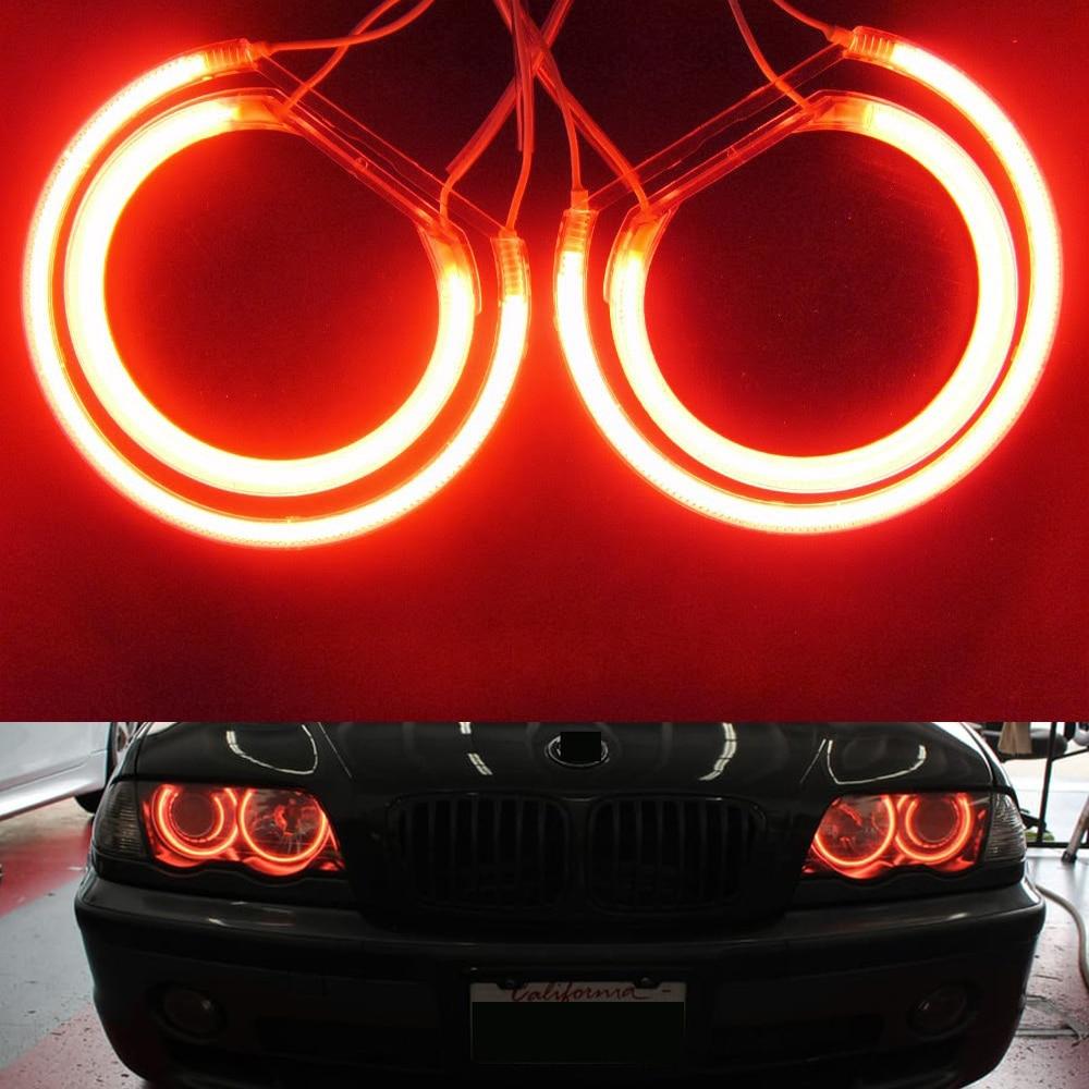 New Car led CCFL Angel eye 4x131mm car light White 6000K auto Halo ring Headlight for BMW E46 E36 E38 E39  3/5/7 Series for e36 e39 e46 halo ring ccfl angel eye kit projector type 7000k white lamp ca053