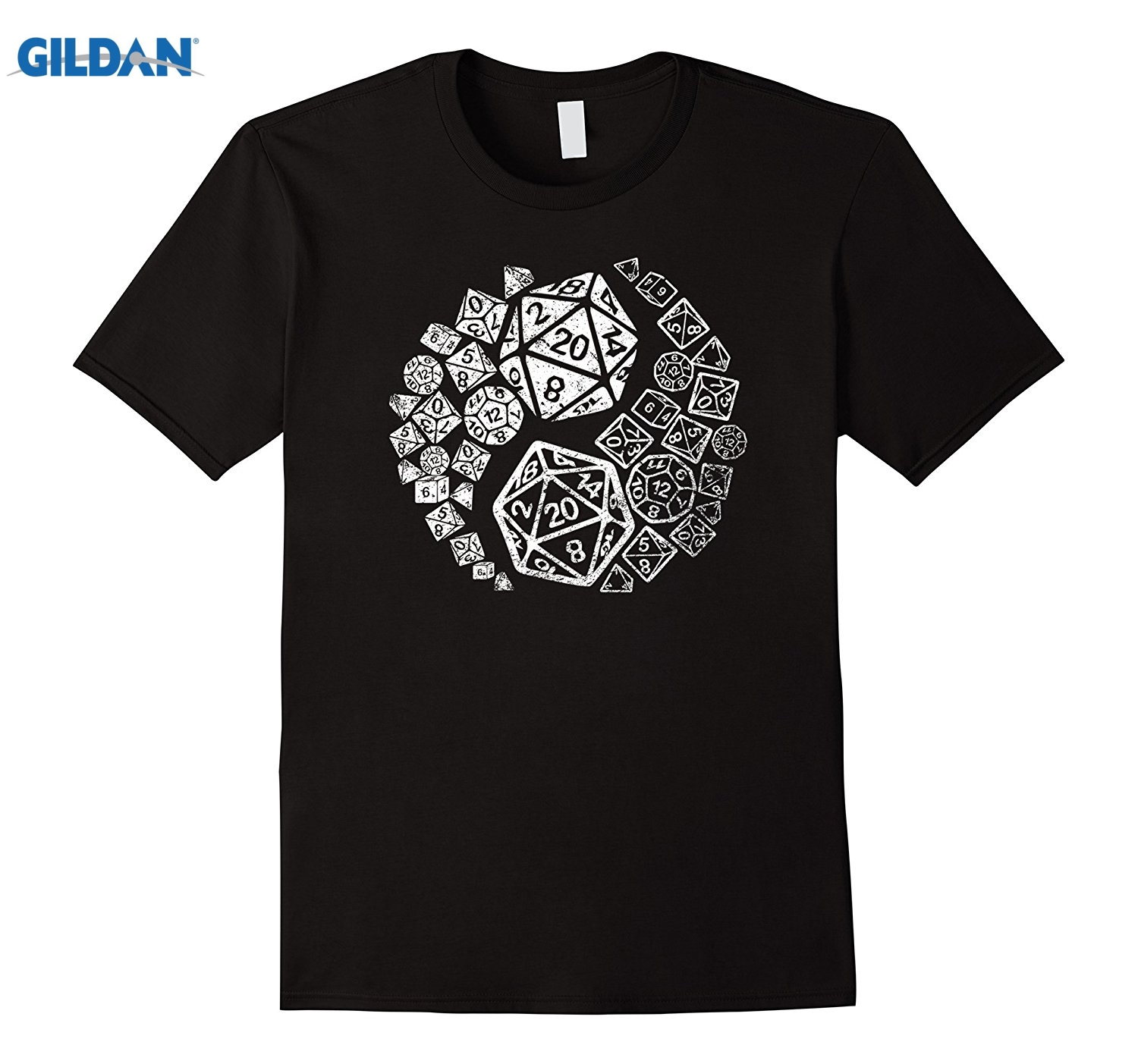 GILDAN Official Yin Yang Good and Evil Epic Gaming Dice T-shirt ...