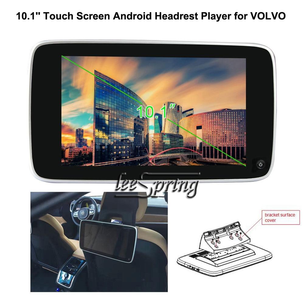 2 pièces voiture moniteur 10.1 ''Ultra-mince écran tactile Android appuie-tête lecteur pour VOLVO