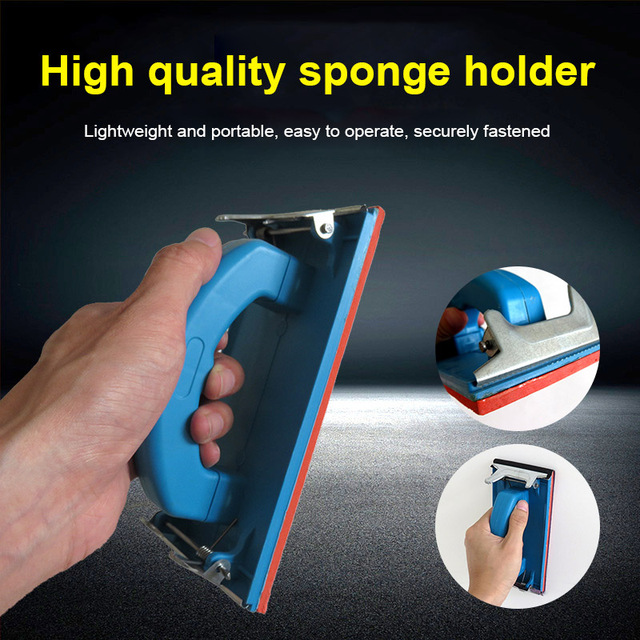 Handheld Sandpaper Frame Hand Grip Sandpaper Frame Holder for Abrasive Tools 85x185mm TB Sale