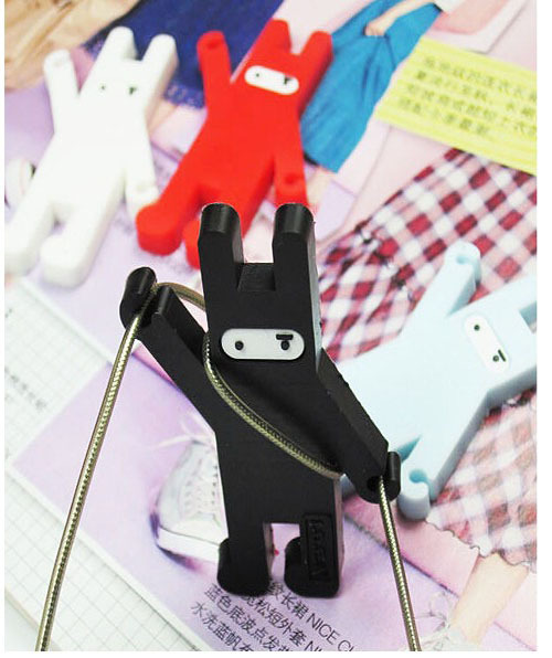 New Fashion Rubber rabbit Earphone Cable Wire Organizer Cord Holder Cable Winder For iphone samsung MP3 Headphone Wire Storage