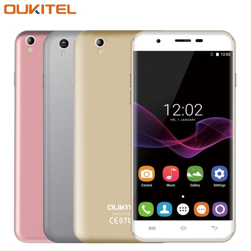 """Original Oukitel U7 MAX Mobile phone 5.5"""" HD Screen RAM 1GB ROM 8GB MTK6580A Quad Core 8MP Camera 2500mAh 3G WCDMA Smartphone"""